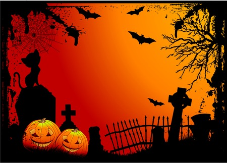gravestone: Grunge Halloween cemetery background
