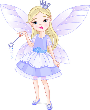 Cute little girl dressed up like fairy Stock Vector - 5568157