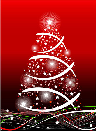 Red color Christmas background, vector illustration Stock Vector - 5586366