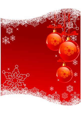 The white snowflakes on top of the red background Stock Vector - 5614097