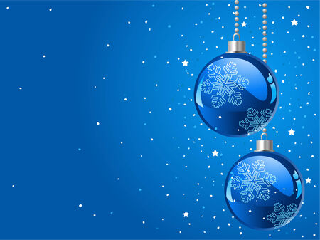 Abstract blue Christmas Background with Christmas decorations Vector