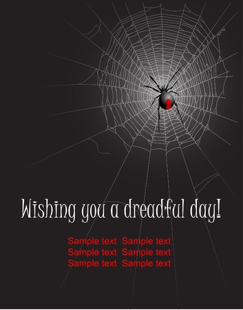 web2: Halloween spider web background. Vector illustration layered