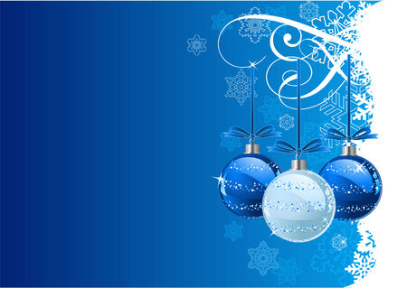 Christmas Background with balls and snowflakes Stock Vector - 5628314
