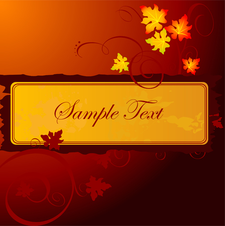 beautiful floral banner design with autumn leaves 向量圖像