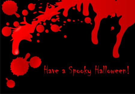 Halloween background of flowing blood drops  Vector