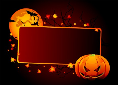 holiday background: Halloween place card or invite. Layered for easy  manipulation
