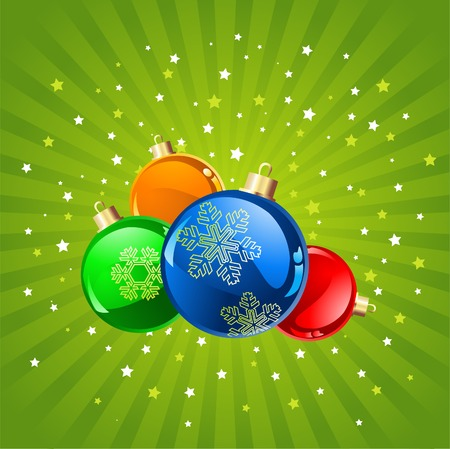 Abstract Christmas background with baubles, element for design,illustration. Vector
