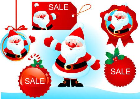 Éléments de conception de Noël pour la publicité.  Vecteurs