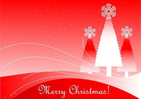 Red color Christmas background, illustration layered Stock Vector - 5739912