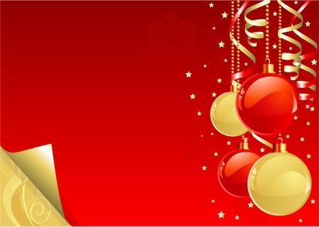 decorative Christmas background with shining  decorations