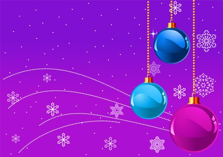 Abstract violet Christmas Background with Christmas decorations Stock Vector - 5749706