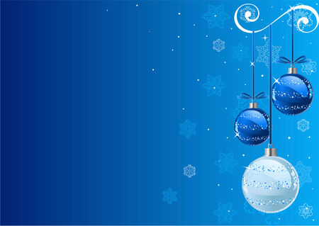 Vector Christmas Background with balls and snowflakes Vector