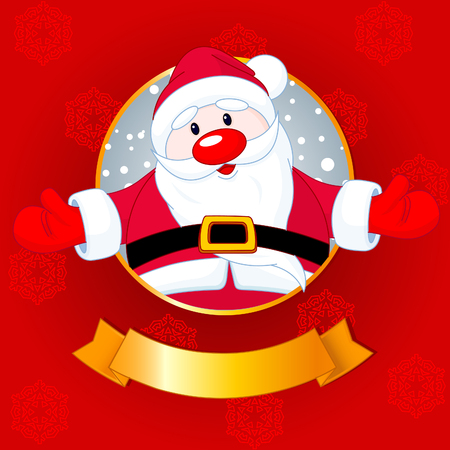 Christmas greeting card with Santa Claus Vector