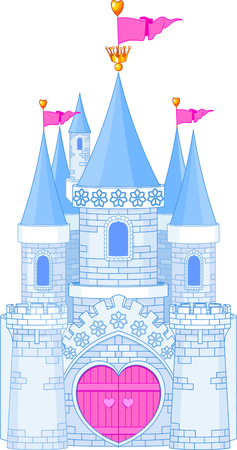 diadem: Vector Illustration of a romantic Fairy Tale Princess Castle