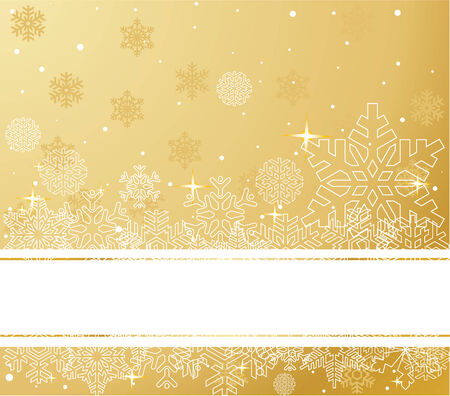 white background: The white snowflakes on top and bottom of the stripe  background  Illustration