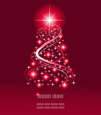 Red color Christmas background, vector illustration Vector