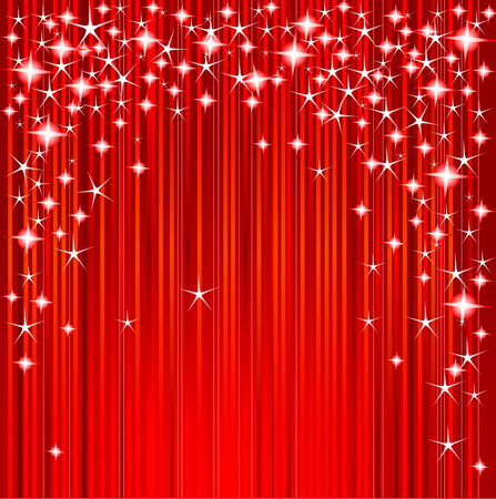 digital: Red Christmas background with stars and stripes