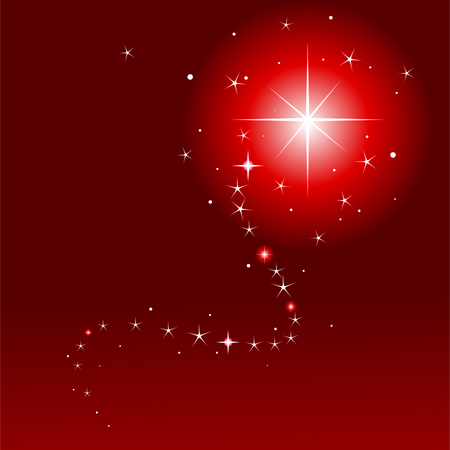 twinkling: Vector illustration of  shooting star with place for copytext