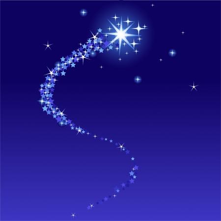 Vector afbeelding van vallende ster met plaats voor kopie ext