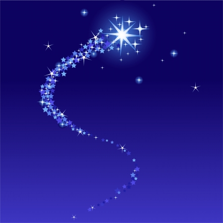 Vector illustration of  shooting star with place for copy\text