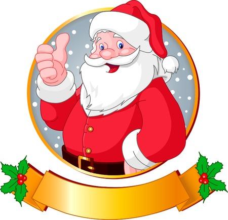 Carte de v?ux de Noël avec le père Noël  Banque d'images - 5959236