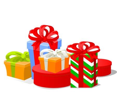 illustration of  Christmas gifts Vettoriali