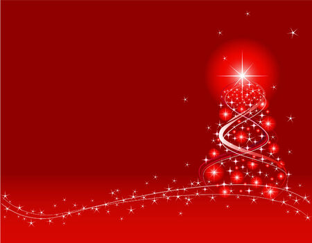 Red Christmas Background. Created in Adobe Illustrator. Illustration