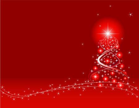 adobe: Red Christmas Background. Created in Adobe Illustrator. Illustration