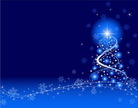 Blauw Kerst mis achtergrond. Met Adobe Illustrator zijn gemaakt. Stock Illustratie