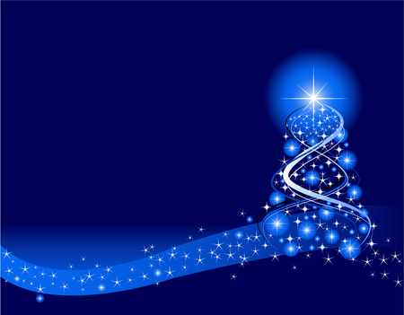 블루 크리스마스 배경입니다. Adobe Illustrator에서 작성되었습니다.
