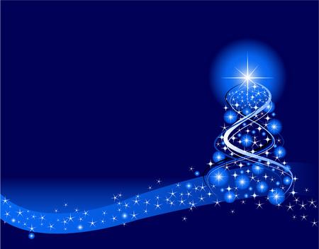 Blue Christmas Background. Create in Adobe Illustrator. Archivio Fotografico - 6063418