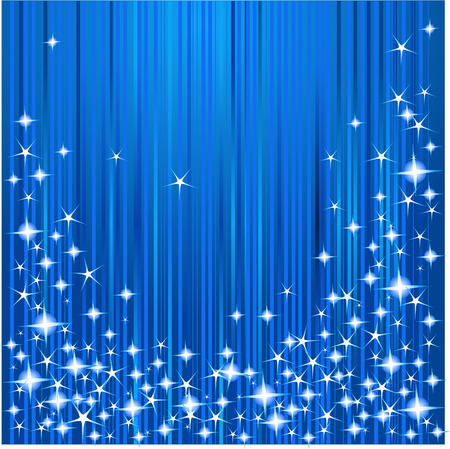 Blue Christmas background with stars and stripes Vector