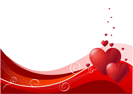 valentine's: Abstract Valentines Day background with hearts. Place for copytext