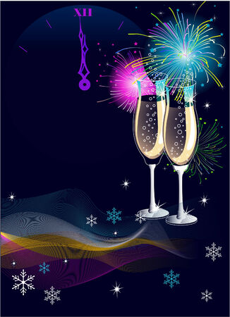 New Year's Eve celebration  vector background with place for copytext 일러스트
