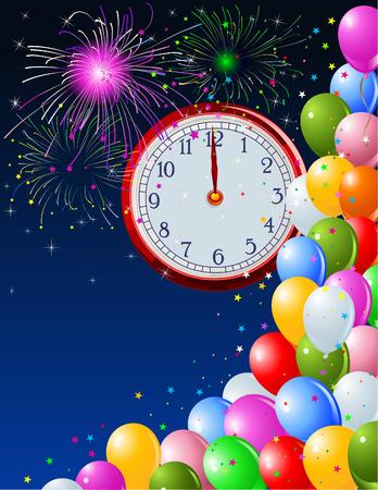 Contexte de la nouvelle année avec clockwork. Copie/espace. Convenable pour la nouvelle année Vecteurs