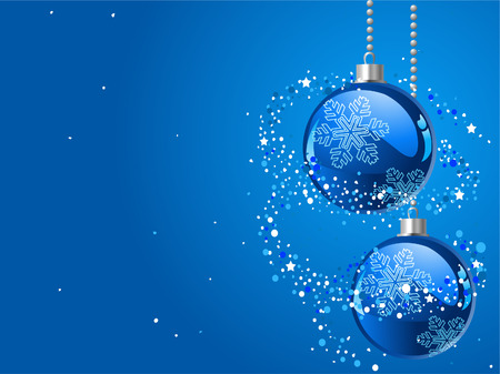 Abstract blue Christmas Background with Christmas decorations Stock Vector - 6117317