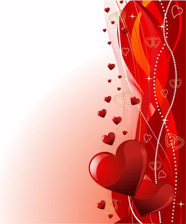 Vector de Grange fondo de Valentine?s día con corazones  Foto de archivo - 6117309