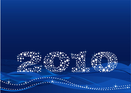 New years eve background made of stars Vector
