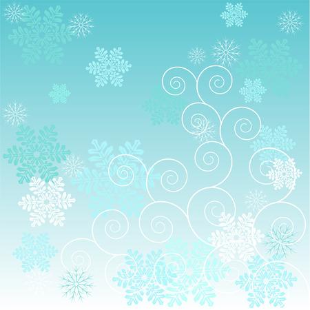 雪と美しい冬霜の背景