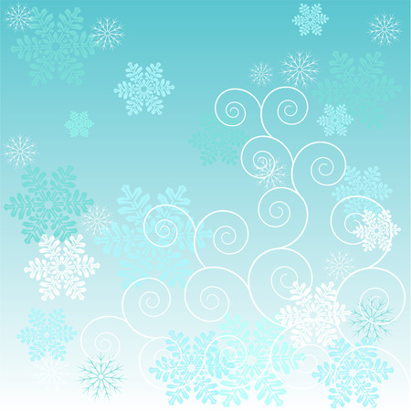 Beautiful  winter frost background with snowflakes