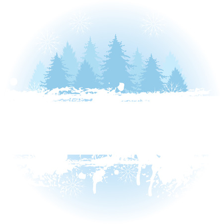 Winter themed grange background with copy space. Çizim