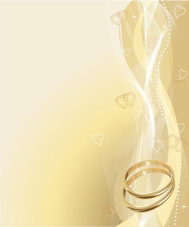 Illustrati Beautiful Wedding Anelli sfondo con il posto per copia ext