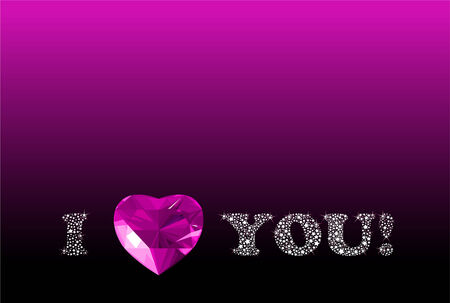 Shining vector Valentine's Day  background with glitter