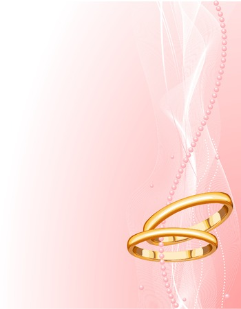 Illustrated Beautiful Wedding rings Background with place for copyext Stock fotó - 6218342