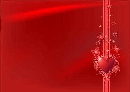 horizontal: Grange  Valentine%uFFFDs Day horizontal background with hearts
