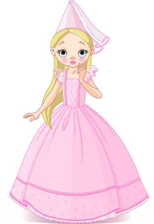 Very cute and beautiful little princess Stock Vector - 6345174