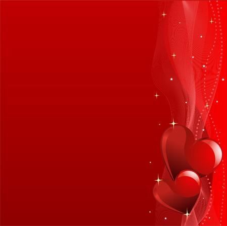 horizontal: Grange Valentines Day horizontal background with hearts