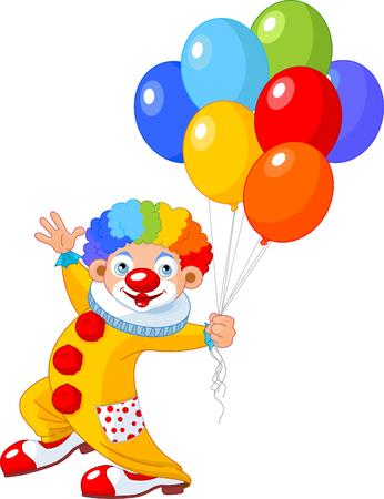 clown cirque: Les ballons de tenue de clown dr�le. illustration