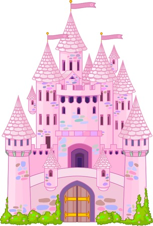 fairy tale princess: Illustration of a Fairy Tale Princess Castle  Illustration