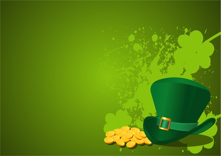 St. Patrick's Day Background with Leprechaun Hat Stock Vector - 6433284